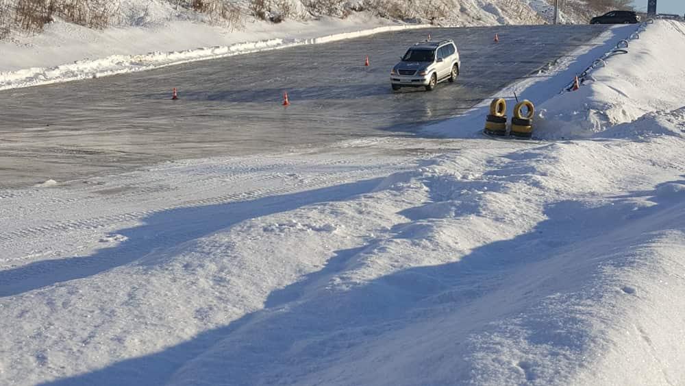 Автодром Дзержинский вождение на льду