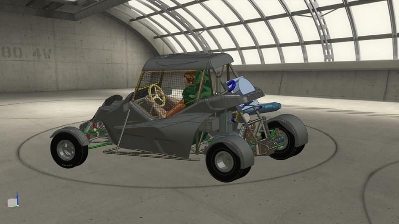 3D багги с водителем