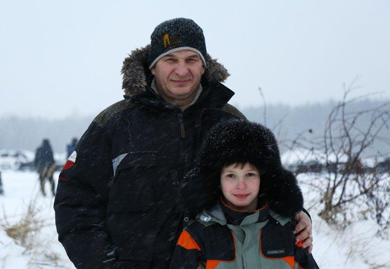 отец гонщик с сыном