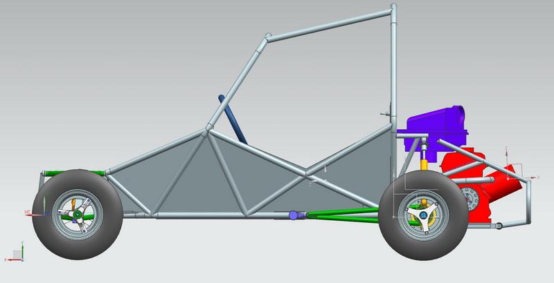 3D машина багги сбоку