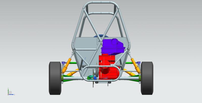 3D машина багги сзади