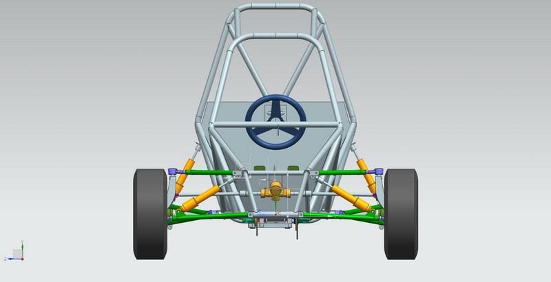 3D машина багги спереди